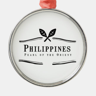 Philippines Pearl of the Orient Metal Ornament