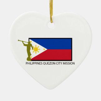 PHILIPPINES QUEZON CITY MISSION LDS CTR CERAMIC ORNAMENT