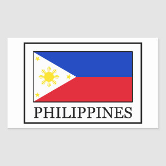 Philippines Rectangular Sticker