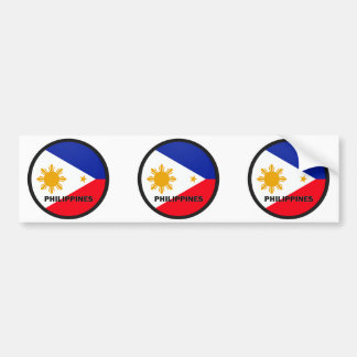 Philippines Roundel quality Flag Bumper Sticker