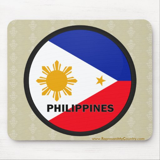 Philippines Roundel quality Flag Mouse Pad