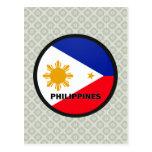 Philippines Roundel quality Flag Postcard