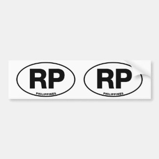 Philippines RP Oval ID Identification Code Initial Bumper Sticker