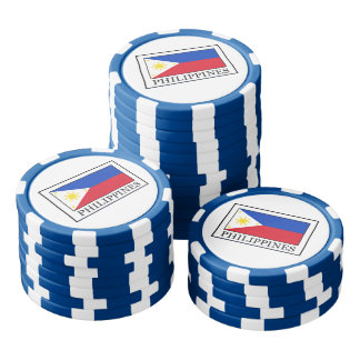 Philippines Set Of Poker Chips