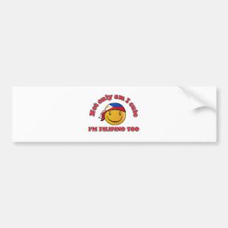 Philippines smiley flag designs bumper sticker