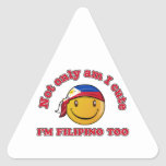 Philippines smiley flag designs triangle stickers