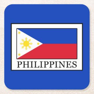 Philippines Square Paper Coaster