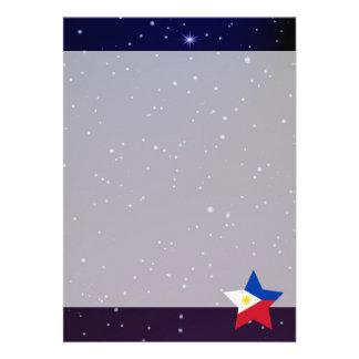 Philippines Star Design Flag Card