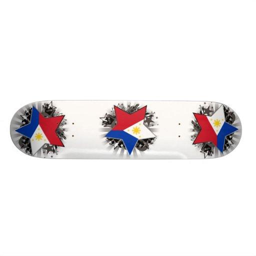 Philippines Star Skate Board Deck