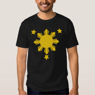philippines sun and 3 stars tees