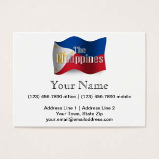 Philippines Waving Flag Business Card