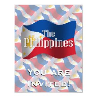 Philippines Waving Flag Card