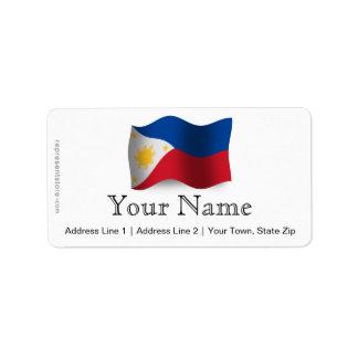 Philippines Waving Flag Custom Address Labels