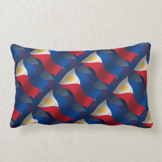 Philippines Waving Flag Throw Pillows
