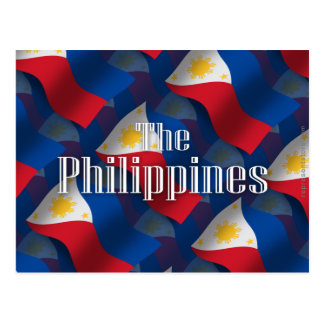 Philippines Waving Flag Postcard