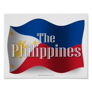 Philippines Waving Flag Poster