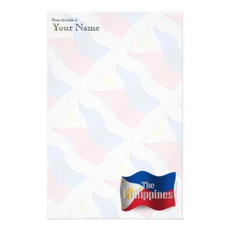 Philippines Waving Flag Stationery