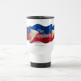 Philippines Waving Flag Travel Mug