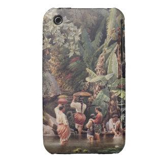 Philippino Women Washing Beneath a Banana Tree, 18 iPhone 3 Case-Mate Case