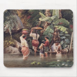 Philippino Women Washing Beneath a Banana Tree, 18 Mouse Pad