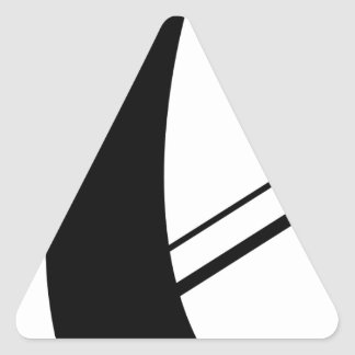 philip's cross - abstracted triangle sticker
