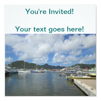 Philipsburg Harbor Gorgeous Day Personalized Invitation