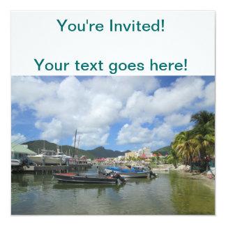 Philipsburg Harbor St. Maarten Personalized Announcement