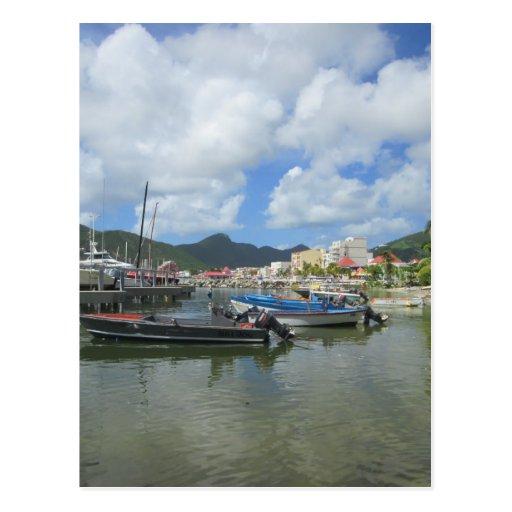 Philipsburg St Maarten: Philipsburg Harbor St. Maarten Postcard