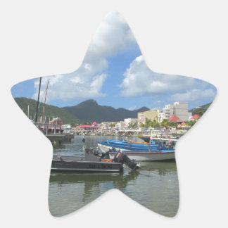 Philipsburg Harbor St. Maarten Star Sticker