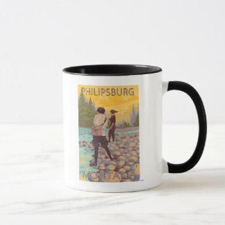 Philipsburg, MontanaWomen Fly Fishing Mug