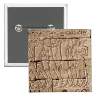 Philistine prisoners being led away 2 inch square button