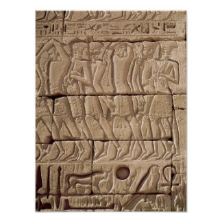 Philistine prisoners being led away poster