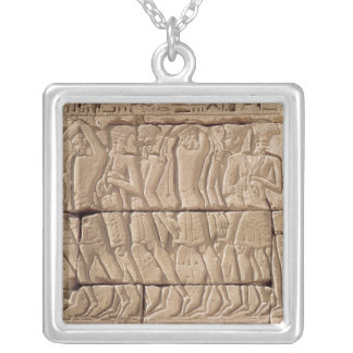 Philistine prisoners being led away silver plated necklace