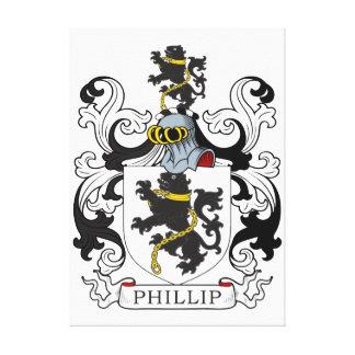 Phillip Family Crest (Welsh) Canvas Print