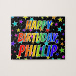 "[ Thumbnail: ""Phillip"" First Name, Fun ""Happy Birthday"" Jigsaw Puzzle ]"