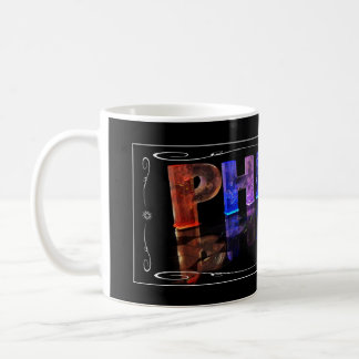 Phillip  - The Name Phillip in 3D Lights (Photogra Basic White Mug