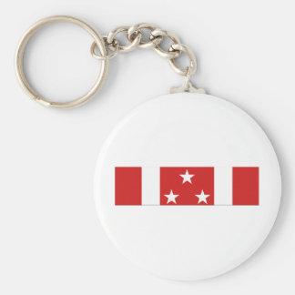Phillipine Defense Ribbon Basic Round Button Keychain