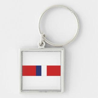 Phillipine Liberation Ribbon Silver-Colored Square Keychain