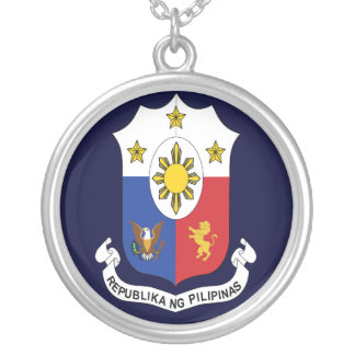 Phillipines Coat of Arms Round Pendant Necklace