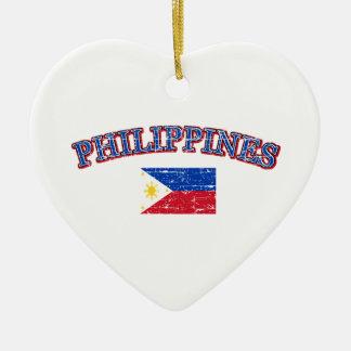Phillipines football design ceramic ornament
