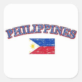 Phillipines football design square sticker