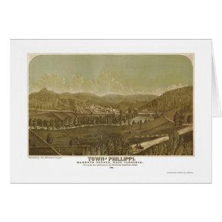 Phillippi, mapa panorámico de WV - 1861 Tarjeta De Felicitación