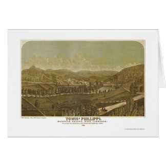 Phillippi, WV Panoramic Map - 1861 Card