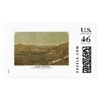Phillippi, WV Panoramic Map - 1861 Stamp