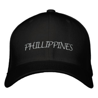 Phillippines Embroidered Baseball Caps