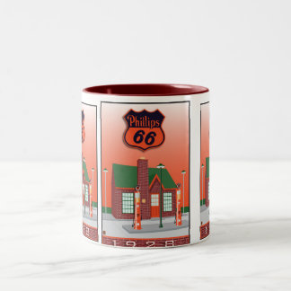 Phillips 66 taza dos tonos