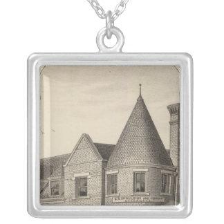 Phillips County Bank, Phillipsburg, Kansas Square Pendant Necklace
