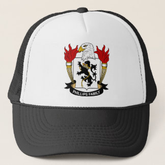 Phillips Family Coat of Arms Trucker Hat