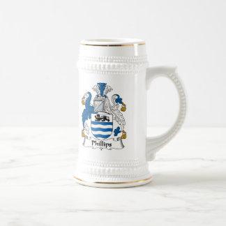 Phillips Family Crest Beer Stein