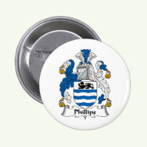 Phillips Family Crest Button